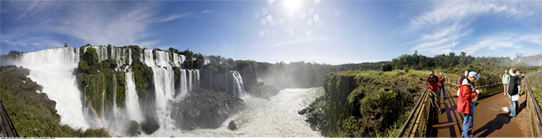 Iguazu Falls panoramic